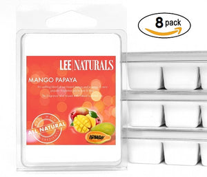 MANGO PAPAYA Premium 6-Piece Soy Wax Melt Clamshell