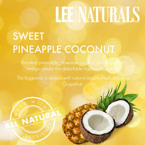 SWEET PINEAPPLE COCONUT Premium 6-Piece Soy Wax Melt Clamshell - Lee Naturals Wax Melts