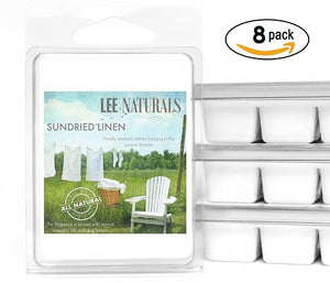 SUNDRIED LINEN Premium 6-Piece Soy Wax Melt Clamshell - Lee Naturals Wax Melts