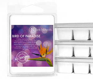 BIRD OF PARADISE Premium 6-Piece Soy Wax Melt Clamshell - Lee Naturals Wax Melts