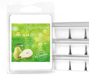 JUICY PEAR Premium 6-Piece Soy Wax Melt Clamshell