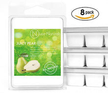 JUICY PEAR Premium 6-Piece Soy Wax Melt Clamshell - Lee Naturals Wax Melts