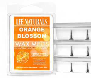 ORANGE BLOSSOM Premium 6-Piece Soy Wax Melt Clamshell - LeeNaturals.com - 1