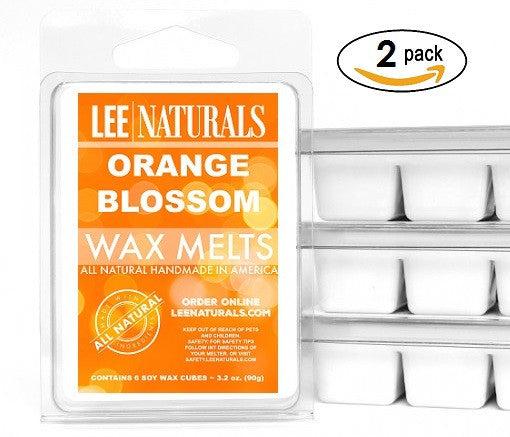 ORANGE BLOSSOM Premium 6-Piece Soy Wax Melt Clamshell - LeeNaturals.com - 2