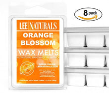 ORANGE BLOSSOM Premium 6-Piece Soy Wax Melt Clamshell - Lee Naturals Wax Melts
