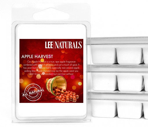 APPLE HARVEST Premium 6-Piece Soy Wax Melts - Lee Naturals Wax Melts