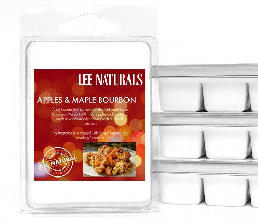 APPLES & MAPLE BOURBON Premium 6-Piece Soy Wax Melts - LeeNaturals.com - 1