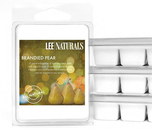BRANDIED PEAR Premium 6-Piece Soy Wax Melts - LeeNaturals.com - 1