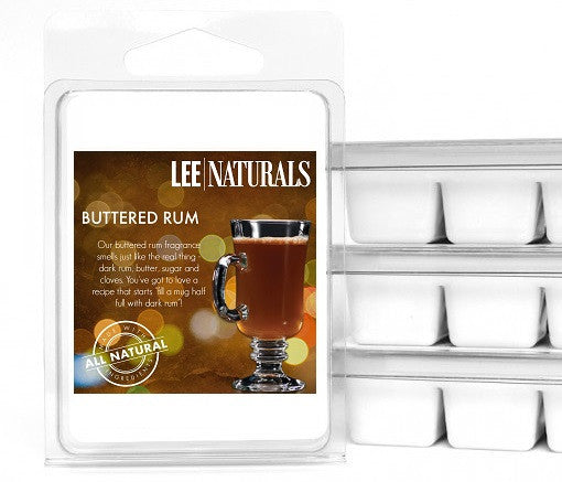 BUTTERED RUM Premium 6-Piece Soy Wax Melts - LeeNaturals.com - 1