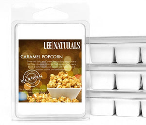 CARAMEL POPCORN Premium 6-Piece Soy Wax Melts - LeeNaturals.com - 1