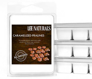 CARAMELIZED PRALINES Premium 6-Piece Soy Wax Melts - LeeNaturals.com - 1