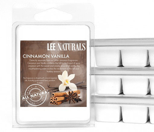 CINNAMON VANILLA Premium 6-Piece Soy Wax Melts - LeeNaturals.com - 1