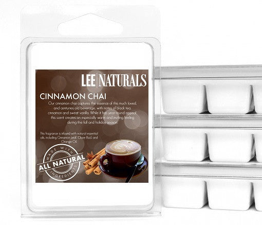CINNAMON CHAI Premium 6-Piece Soy Wax Melts - LeeNaturals.com - 1