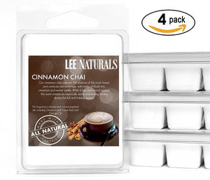 CINNAMON CHAI Premium 6-Piece Soy Wax Melts - LeeNaturals.com - 3