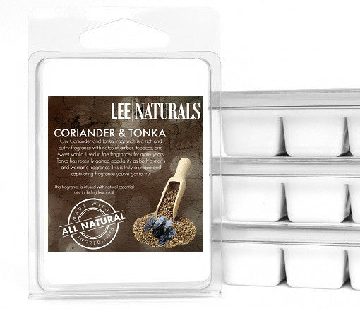 CORIANDER & TONKA Premium 6-Piece Soy Wax Melts - LeeNaturals.com - 1