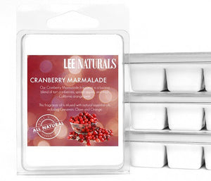 CRANBERRY MARMALADE Premium 6-Piece Soy Wax Melts - LeeNaturals.com - 1