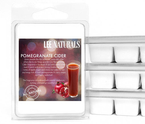 POMEGRANATE CIDER Premium 6-Piece Soy Wax Melts - LeeNaturals.com - 1