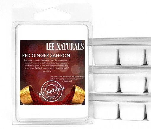 RED GINGER SAFFRON Premium 6-Piece Soy Wax Melts - LeeNaturals.com - 1