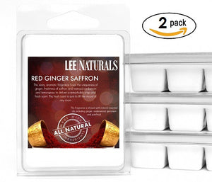 RED GINGER SAFFRON Premium 6-Piece Soy Wax Melts - LeeNaturals.com - 2