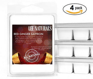 RED GINGER SAFFRON Premium 6-Piece Soy Wax Melts - LeeNaturals.com - 3