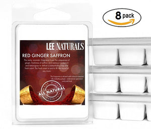 RED GINGER SAFFRON Premium 6-Piece Soy Wax Melts - Lee Naturals Wax Melts
