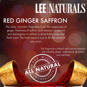 RED GINGER SAFFRON Premium 6-Piece Soy Wax Melts - LeeNaturals.com - 4