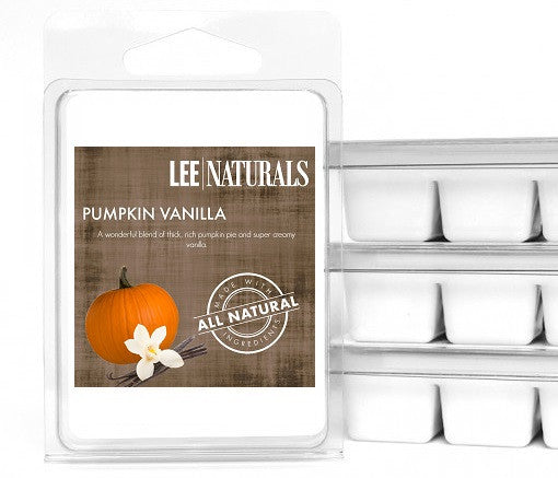 PUMPKIN VANILLA Premium 6-Piece Soy Wax Melts - LeeNaturals.com - 1