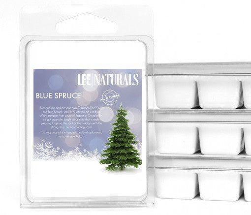 BLUE SPRUCE Premium 6-Piece Soy Wax Melts - LeeNaturals.com - 1