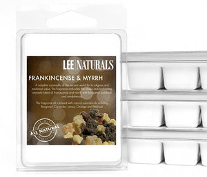 FRANKINCENSE AND MYRRH Premium 6-Piece Soy Wax Melts - LeeNaturals.com - 1