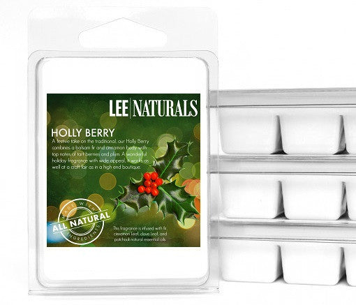HOLLY BERRY Premium 6-Piece Soy Wax Melts - LeeNaturals.com - 1