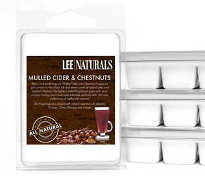 MULLED CIDER & CHESTNUTS Premium 6-Piece Soy Wax Melts - LeeNaturals.com - 1