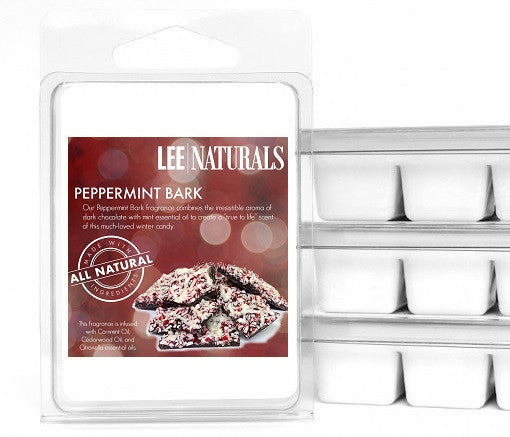 PEPPERMINT BARK Premium 6-Piece Soy Wax Melts - LeeNaturals.com - 1
