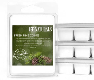 FRESH PINE CONES Premium 6-Piece Soy Wax Melts - LeeNaturals.com - 1