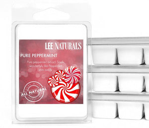 PURE PEPPERMINT Premium 6-Piece Soy Wax Melts - LeeNaturals.com - 1