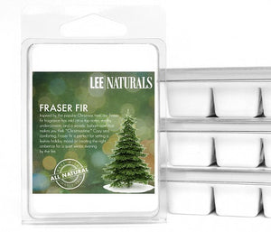 FRASER FIR Premium 6-Piece Soy Wax Melts - LeeNaturals.com - 1