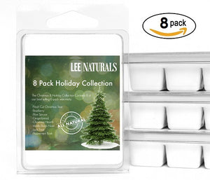 (8 PACK) 2017 CHRISTMAS & HOLIDAY COLLECTION Premium 6-Piece Soy Wax Melts - Lee Naturals Wax Melts