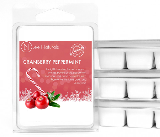 CRANBERRY PEPPERMINT Premium 6-Piece Soy Wax Melts