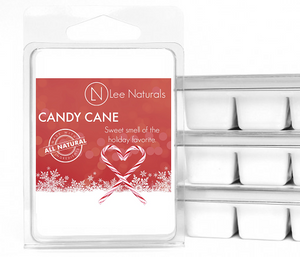 CANDY CANE Premium 6-Piece Soy Wax Melts - Lee Naturals Wax Melts