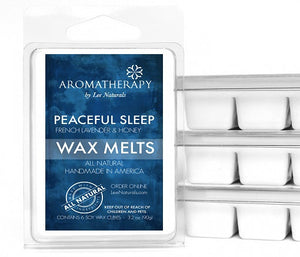 PEACEFUL SLEEP - French Lavender & Honey Premium 6-Piece Soy Wax Melts - LeeNaturals.com - 1
