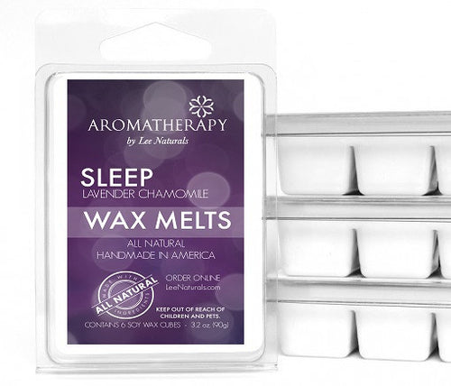 SLEEP - Lavender Chamomile Premium 6-Piece Soy Wax Melts - LeeNaturals.com - 1