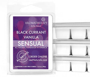 SENSUAL - Black Currant Vanilla Premium 6-Piece Soy Wax Melts - LeeNaturals.com - 1