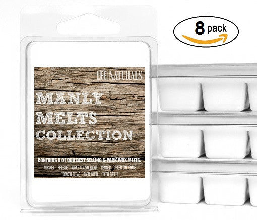 (8 PACK) MANLY MELTS Premium Collection  6-Piece Soy Wax Melts - LeeNaturals.com - 1