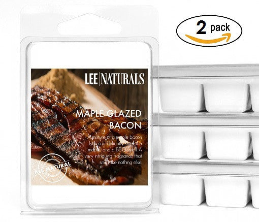 MAPLE GLAZED BACON Manly Melts Premium Collection 6-Piece Soy Wax Melts - LeeNaturals.com - 2