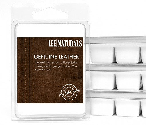 GENUINE LEATHER Manly Melts Premium Collection 6-Piece Soy Wax Melts - LeeNaturals.com - 1