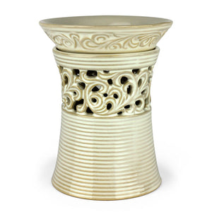 Designer Cream Vase Tart Warmer - Lee Naturals Wax Melts