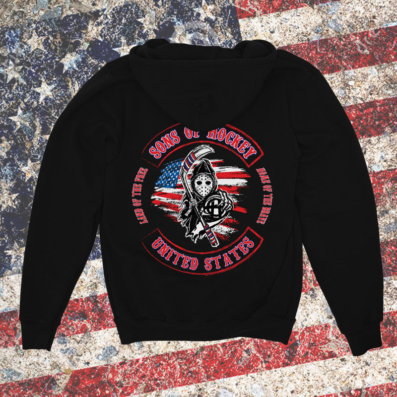 Keeper USA Zip Up Sweatshirt - Sons of Hockey