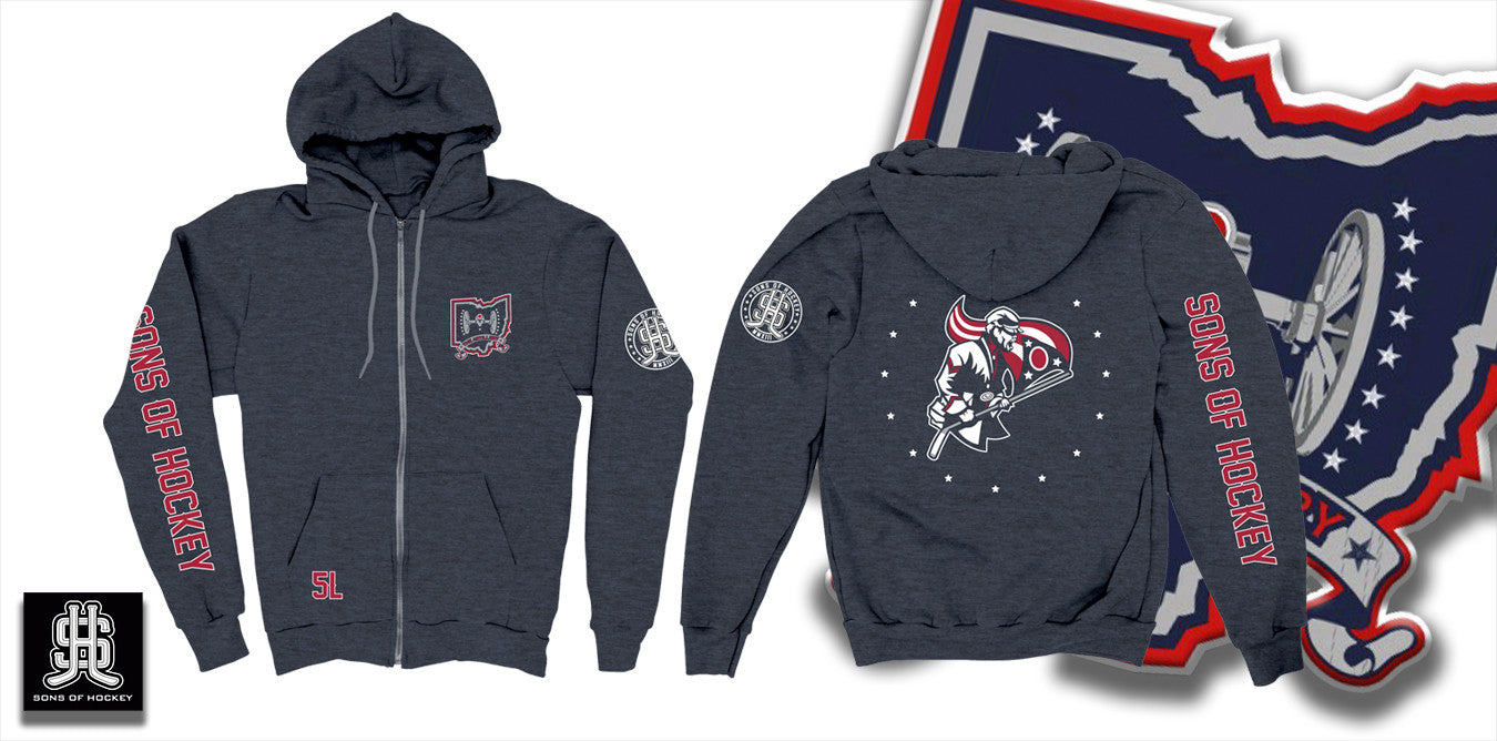 The Flag Bearer - Lightweight ZIP-UP Hoodie