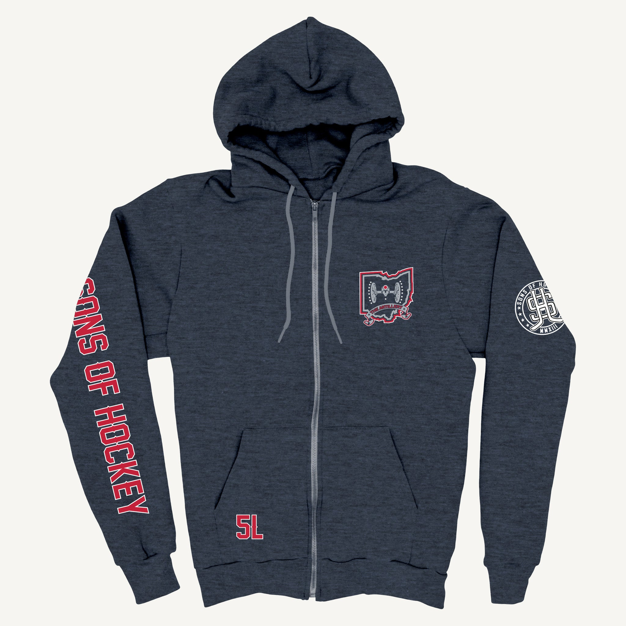 The Flag Bearer - Lightweight ZIP-UP Hoodie - Sons of Hockey