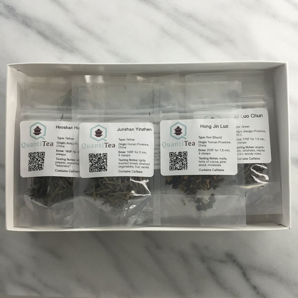 Tea flight box / Tea sampler - Twelve packets of single origin loose leaf tea