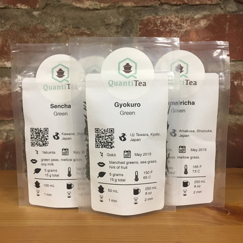 Japanese Green Tea Flight (tea sampler)